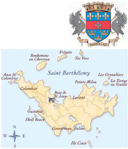 carte saint barthelemy